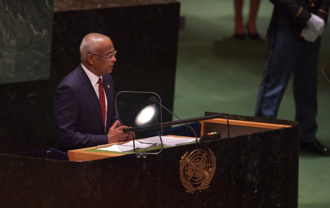 President delivers General Debate Statement at UNGA 76 in Dhivehi